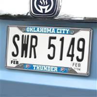 "NBA - Oklahoma City Thunder License Plate Frame 6.25""x12.25"""