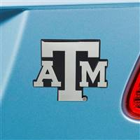 "Texas A&M University Chrome Emblem 2.6""x3.2"""