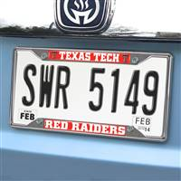 "Texas Tech University License Plate Frame 6.25""x12.25"""