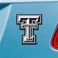 "Texas Tech University Chrome Emblem 2.7""x3.2"""