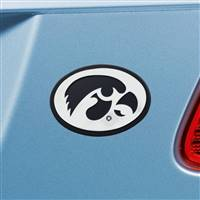 "University of Iowa Chrome Emblem 2.1""x3.2"""