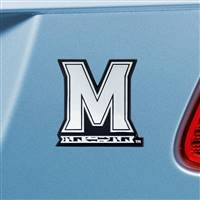 "University of Maryland Chrome Emblem 3.1""x3.2"""