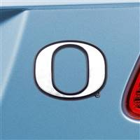 "University of Oregon Chrome Emblem 2.6""x3.2"""