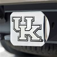 "University of Kentucky Hitch Cover - Chrome on Chrome 3.4""x4"""