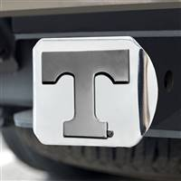 "University of Tennessee Hitch Cover - Chrome on Chrome 3.4""x4"""