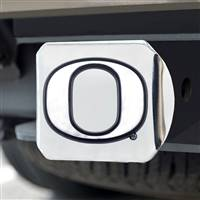 "University of Oregon Hitch Cover - Chrome on Chrome 3.4""x4"""