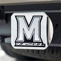 "University of Maryland Hitch Cover - Chrome on Chrome 3.4""x4"""