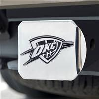 "NBA - Oklahoma City Thunder Hitch Cover - Chrome on Chrome 3.4""x4"""