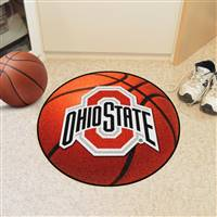 "Ohio State Buckeyes Basketball Rug 29"" Diameter"
