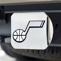 "NBA - Utah Jazz Hitch Cover - Chrome on Chrome 3.4""x4"""