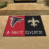 "NFL House Divided - Falcons / Saints House Divided Mat 33.75""x42.5"""