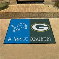 "NFL House Divided - Lions / Packers House Divided Mat 33.75""x42.5"""