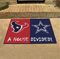 "NFL House Divided - Texans / Cowboys House Divided Mat 33.75""x42.5"""