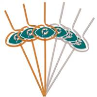 Miami Dolphins Team Sipper Straws