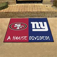 "NFL House Divided - 49ers / Giants House Divided Mat 33.75""x42.5"""