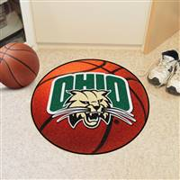 "Ohio University Basketball Mat 27"" diameter"