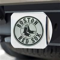 "Boston Red Sox Hitch Cover - Chrome 3.4""x4"""