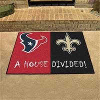 "NFL House Divided - Texans / Saints House Divided Mat 33.75""x42.5"""