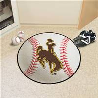 "University of Wyoming Baseball Mat 27"" diameter"