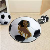 "University of Wyoming Soccer Ball Mat 27"" diameter"
