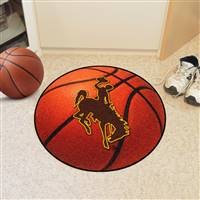 "University of Wyoming Basketball Mat 27"" diameter"