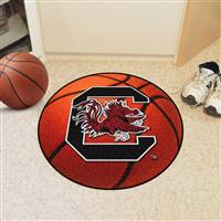 "South Carolina Gamecocks Basketball Rug 29"" diameter"