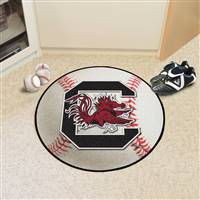 "South Carolina Gamecocks Baseball Rug 29"" diameter"