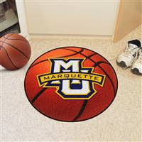 "Marquette Golden Eagles Basketball Rug 29"" diameter"