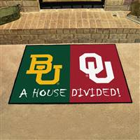 "House Divided - Baylor / Oklahoma House Divided Mat 33.75""x42.5"""