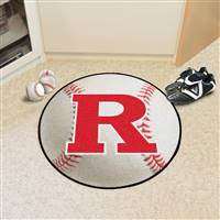 "Rutgers University Baseball Mat 27"" diameter"