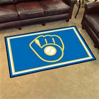 "Milwaukee Brewers 4x6 Rug 44""x71"""