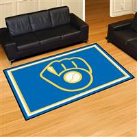 "Milwaukee Brewers 5x8 Rug 59.5""x88"""