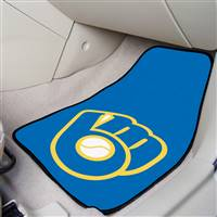 "Milwaukee Brewers 2-pc Carpet Car Mat Set 17""x27"""