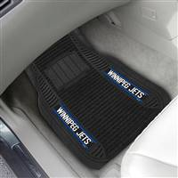 "NHL - Winnipeg Jets 2-pc Deluxe Car Mat Set 21""x27"""