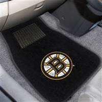 "NHL - Boston Bruins 2-pc Embroidered Car Mat Set 17""x25.5"""