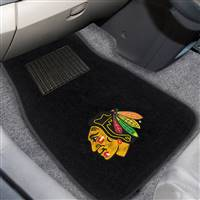 "NHL - Chicago Blackhawks 2-pc Embroidered Car Mat Set 17""x25.5"""