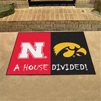 "House Divided - Nebraska / Iowa House Divided Mat 33.75""x42.5"""