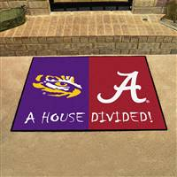 "House Divided - LSU / Alabama House Divided Mat 33.75""x42.5"""
