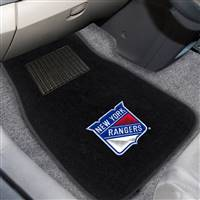 "NHL - New York Rangers 2-pc Embroidered Car Mat Set 17""x25.5"""