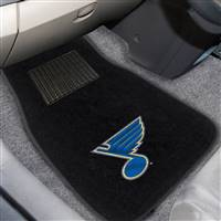 "NHL - St. Louis Blues 2-pc Embroidered Car Mat Set 17""x25.5"""