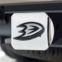 "NHL - Anaheim Ducks Hitch Cover - Chrome on Chrome 3.4""x4"""