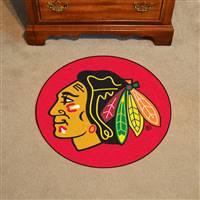 "NHL - Chicago Blackhawks Puck Mat 27"" diameter"