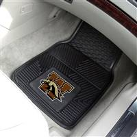 "Western Michigan University 2-pc Vinyl Car Mat Set 17""x27"""