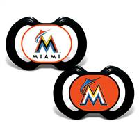 Miami Marlins Pacifier 2 Pack - Special Order