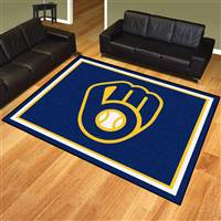 "Milwaukee Brewers 8x10 Rug 87""x117"""