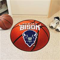 "Howard University Basketball Mat 27"" diameter"