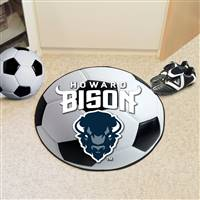 "Howard University Soccer Ball Mat 27"" diameter"