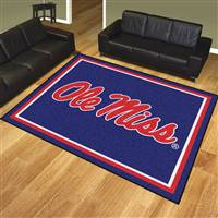 "University of Mississippi (Ole Miss) 8x10 Rug 87""x117"""