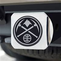 "NBA - Denver Nuggets Hitch Cover - Chrome on Chrome 3.4""x4"""