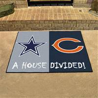 "NFL House Divided - Cowboys / Bears House Divided Mat 33.75""x42.5"""